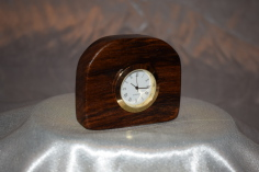 Small walnut desk clock by Wood Cave