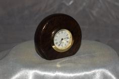 Small bog oak desk clock by Wood Cave