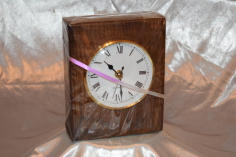 Walnut block clock by Wood Cave