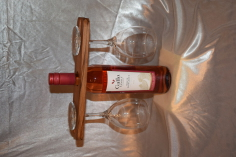 Handmade spalted beech wine glass caddy by Wood Cave