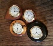 Handmade hardwood fob clocks by Wood Cave