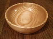 Handmade wood turned ash wood bowl by Wood Cave