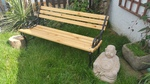 Small garden bench by Wood Cave