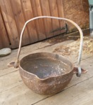 Cauldron planter by Wood Cave