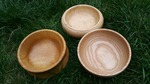 Hand turned wooden bowls by Wood Cave
