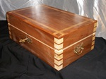 Elm & riplped sycamore jewellery box by Wood Cave