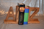 Spalted beech A to Z bookends by Wood Cave