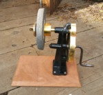 Vintage knife sharpener refurbished by Wood Cave